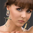 Large and heavy earrings could stretch your ear piercings and lengthen the actual earlobe, leaving unsightly slits in the earlobes.