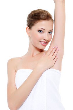 SHORT Underarm hair removal