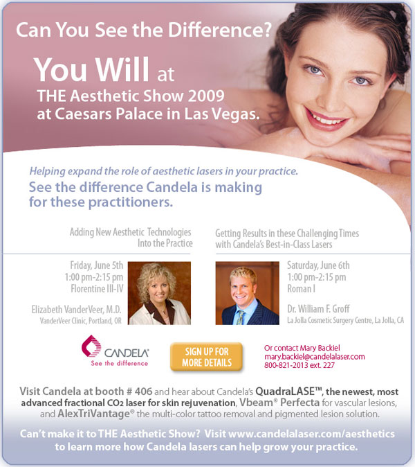 candela at the aesthetics show